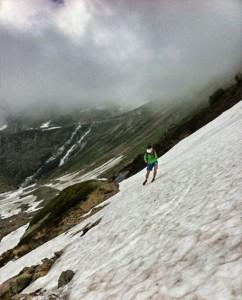 Mühsame Schneefelder am Sustenpass